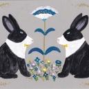 見つめあいパンダウサギ