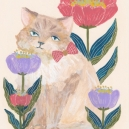 お花と猫 hisayo azuma