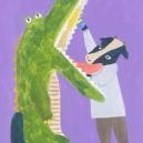 歯の検診 アクリルガッシュ hisayo azuma