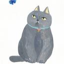 通い猫アルフィー  アクリルガッシュ hisayo azuma