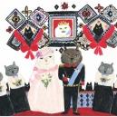 猫王国の結婚式 アクリルガッシュ hisayo azuma