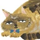 トラ猫 アクリルガッシュ hisayo azuma