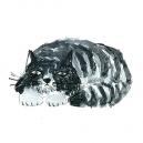 猫カットD アクリルガッシュ hisayo azuma