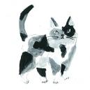 猫カットE アクリルガッシュ hisayo azuma