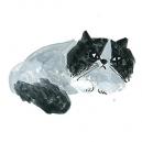 猫カットF アクリルガッシュ hisayo azuma