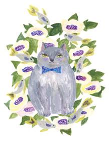 傍え猫 わいん場 東久世 絵 動物 猫